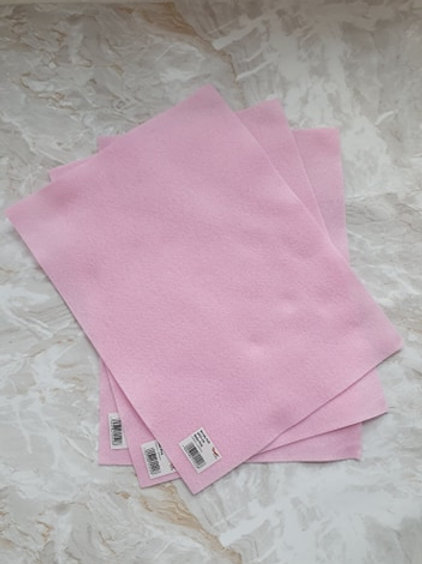 The Craft Factory Felt Baby Pink - Per Sheet