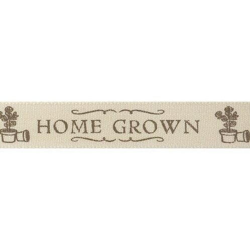 15mm Beige Home Grown Ribbon - Per Metre
