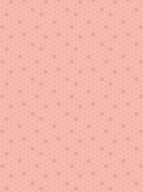 Peach Honeycomb - Per 0.5m