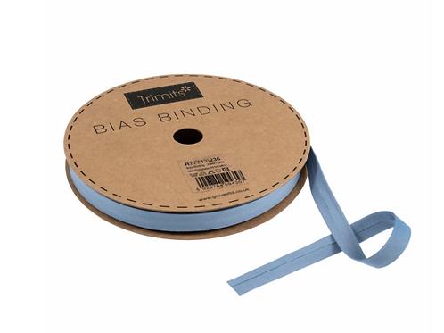13mm China Blue Bias Binding