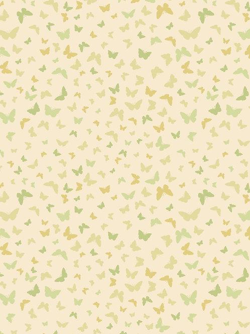 Butterflies on Mellow Yellow - Per 0.5m