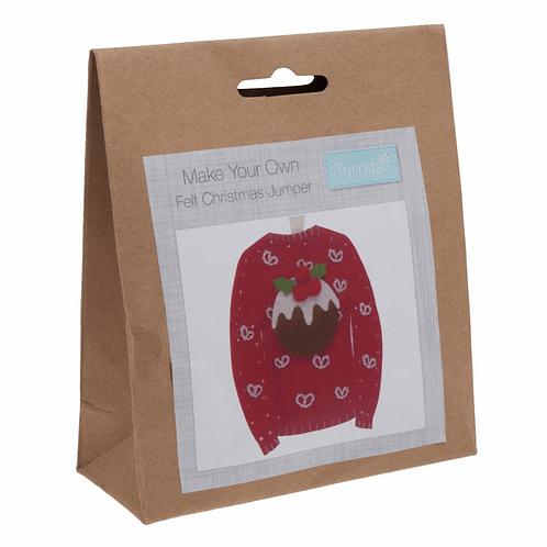 Felt Christmas Jumper Decoration Kit