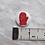 Thumbnail: Red Christmas Mitten Button