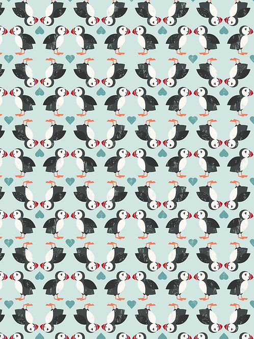 Puffins Jersey Knit - Per 0.5m