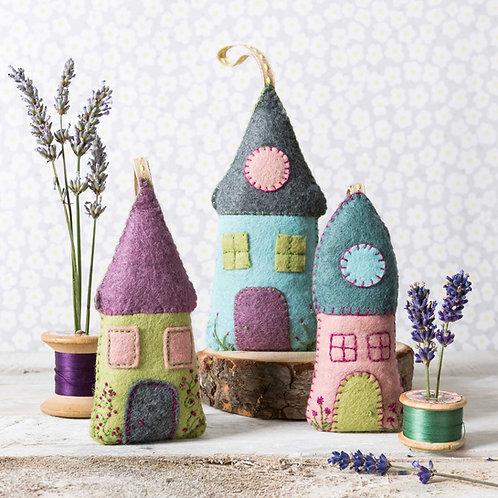 Lavender Houses Felt Craft Kit - Corinne Lapierre