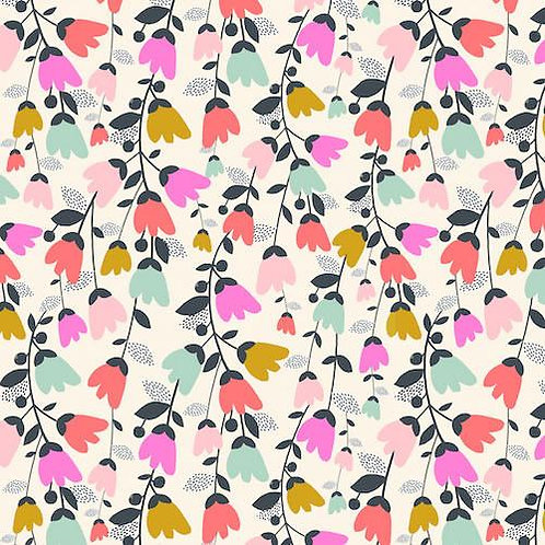 Dashwood Studios Cotton Lawn Candy Flowers - Per 0.5m