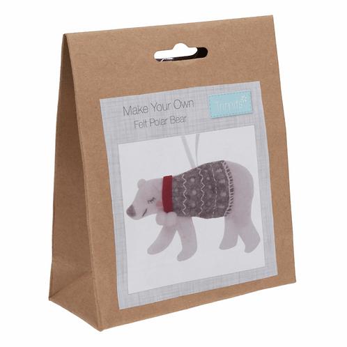 Felt Polar Bear Decoration Kit