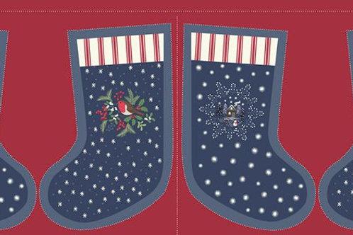 Midnight Countryside Stockings - Per Stocking Panel