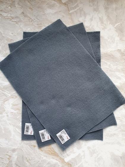 The Craft Factory Felt Grey - Per Sheet