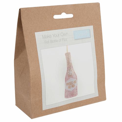 Felt Bottle of Fizz Decoration Kit