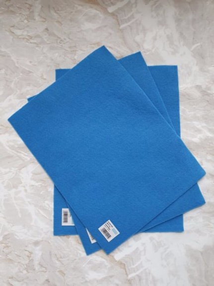 The Craft Factory Felt Crystal Blue - Per Sheet
