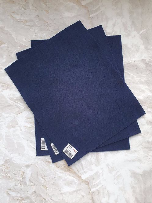 The Craft Factory Felt Navy - Per Sheet