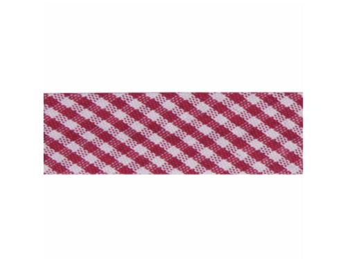 15mm Scarlet Gingham Bias Binding