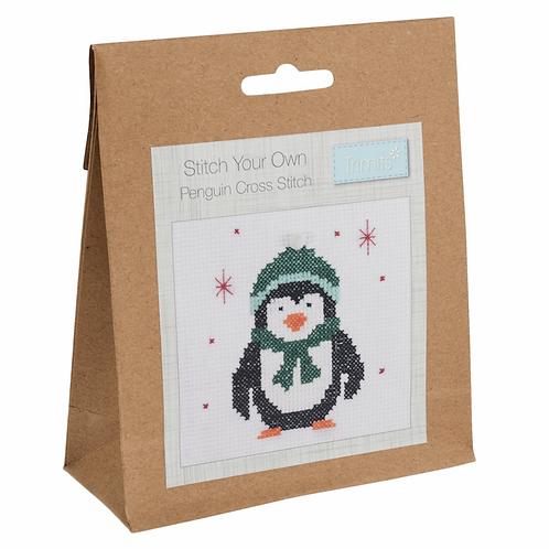 Cross Stitch Penguin Decoration Kit