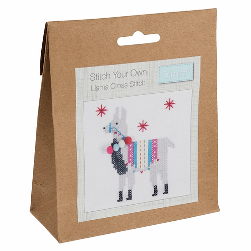 Cross Stitch Llama Decoration Kit