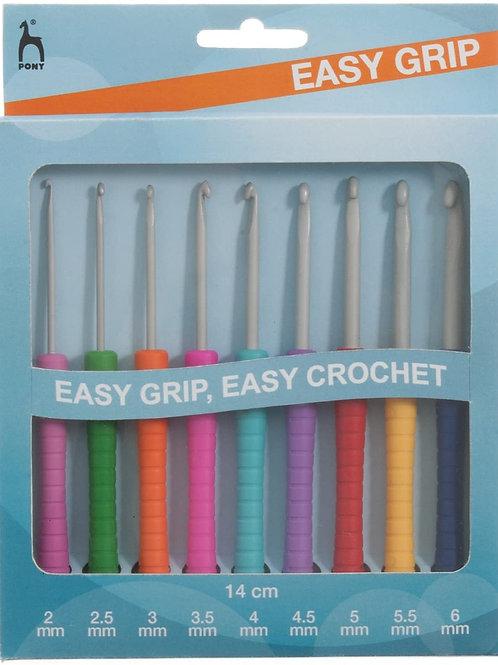 Pony Easy Grip Crochet Hook Kit (2-6mm)