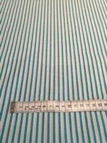 Green Striped Polycotton - Per 0.5m