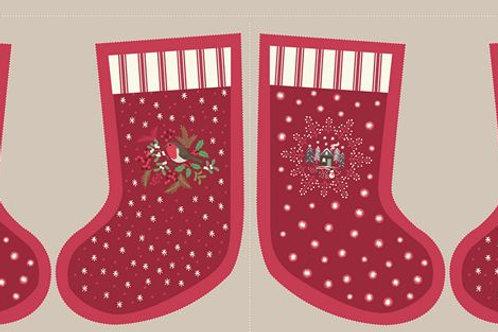 Wine Countryside Stockings - Per Stocking Panel