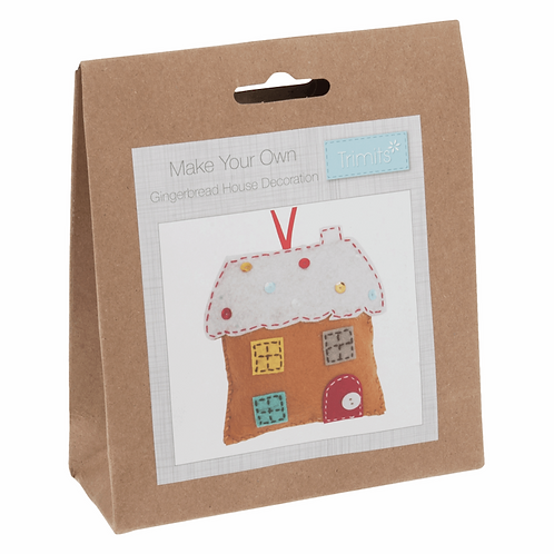 Felt Gingerbread House Decoration Kit