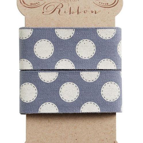 Tilda Ribbon - Blue and White Dots