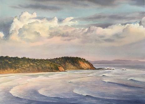 Cloudbamk over Seacliffs. 56 x 76 cm, Wa