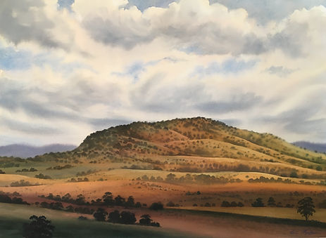 Hill Country near Canberra, 56 x 76 cm,