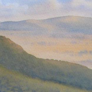 Kanimbla Valley View 13 x 30 cm  Watercolour 2020 $ 450 🔴 SOLD