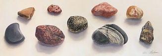Rock Collection Triptych, 3 x 22cm x 62