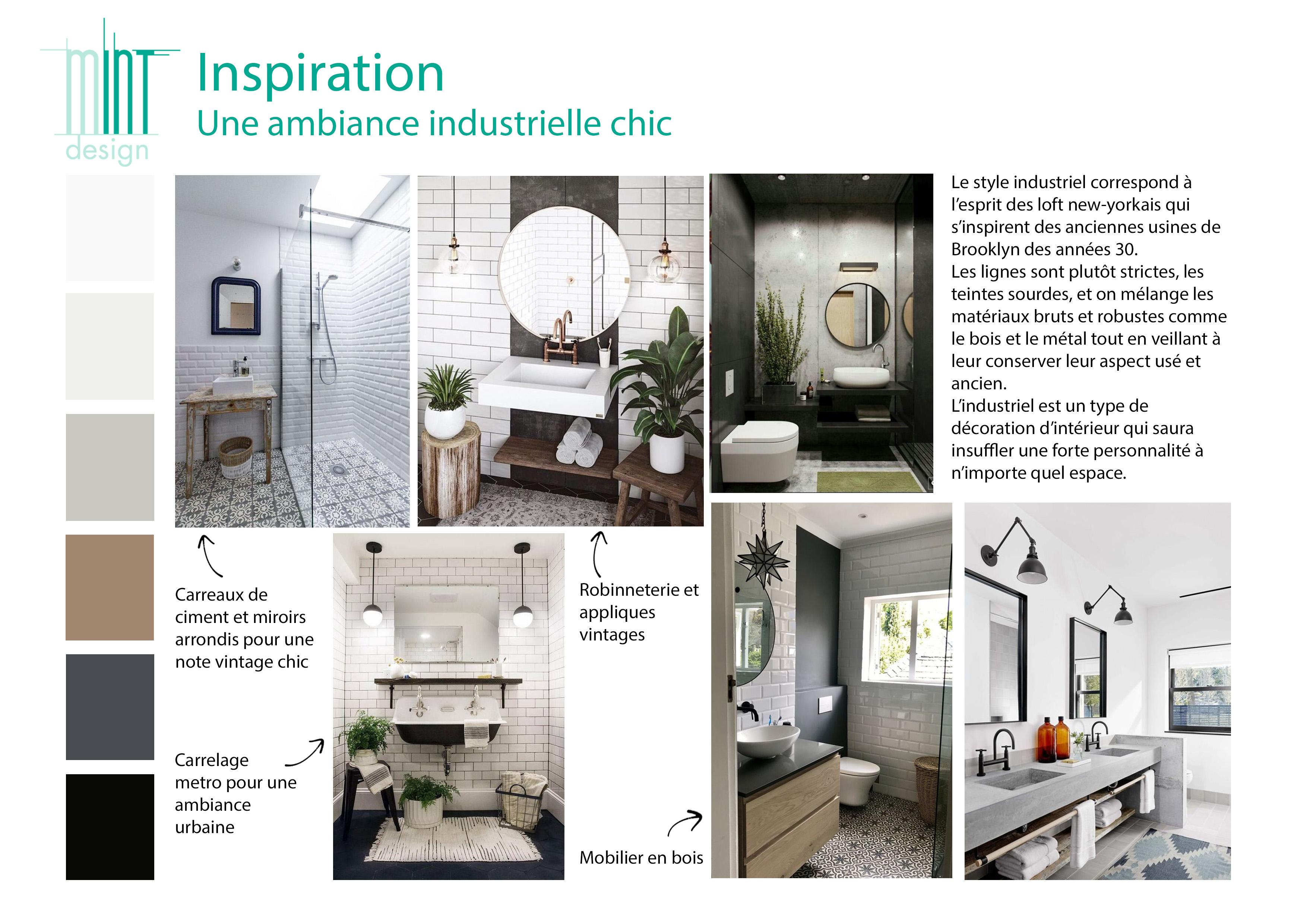Salle De Bain Industrielle Chic Mint Design
