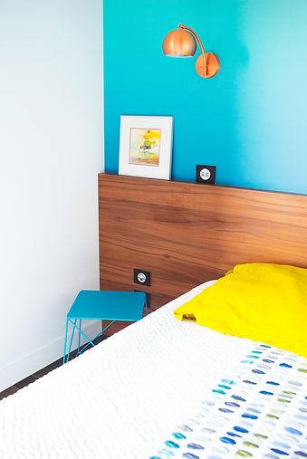 Rénovation, décoration, architecte d'intérieur à saint jean près de Toulouse, conseil en aménagement, couleur, décoration, pour une chambre