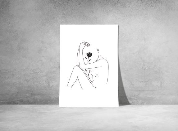Femme à fleur - Marie Fré Dhal