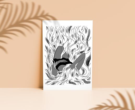 Femme brûlante (noir et blanc) - Slava Tchakaloff