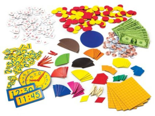 Various math manipulatives and tools