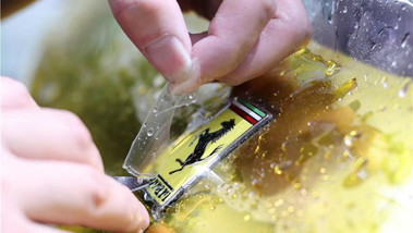 Gold Ferrari Installation