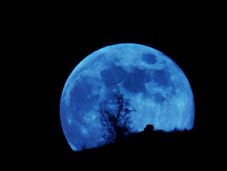 Rare Full Blue Moon and other October Scares near DRC