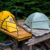 Tents on Platform