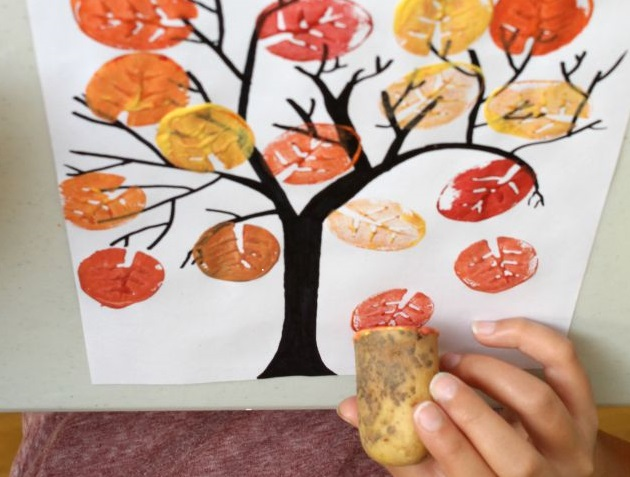 Potato Stamp Crafts