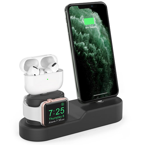 苹果iPhone底座AirPods耳机Apple Watch三合一充电底座