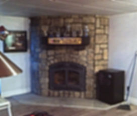 Foyers, pierres décoratives collées intérieur, rénovation