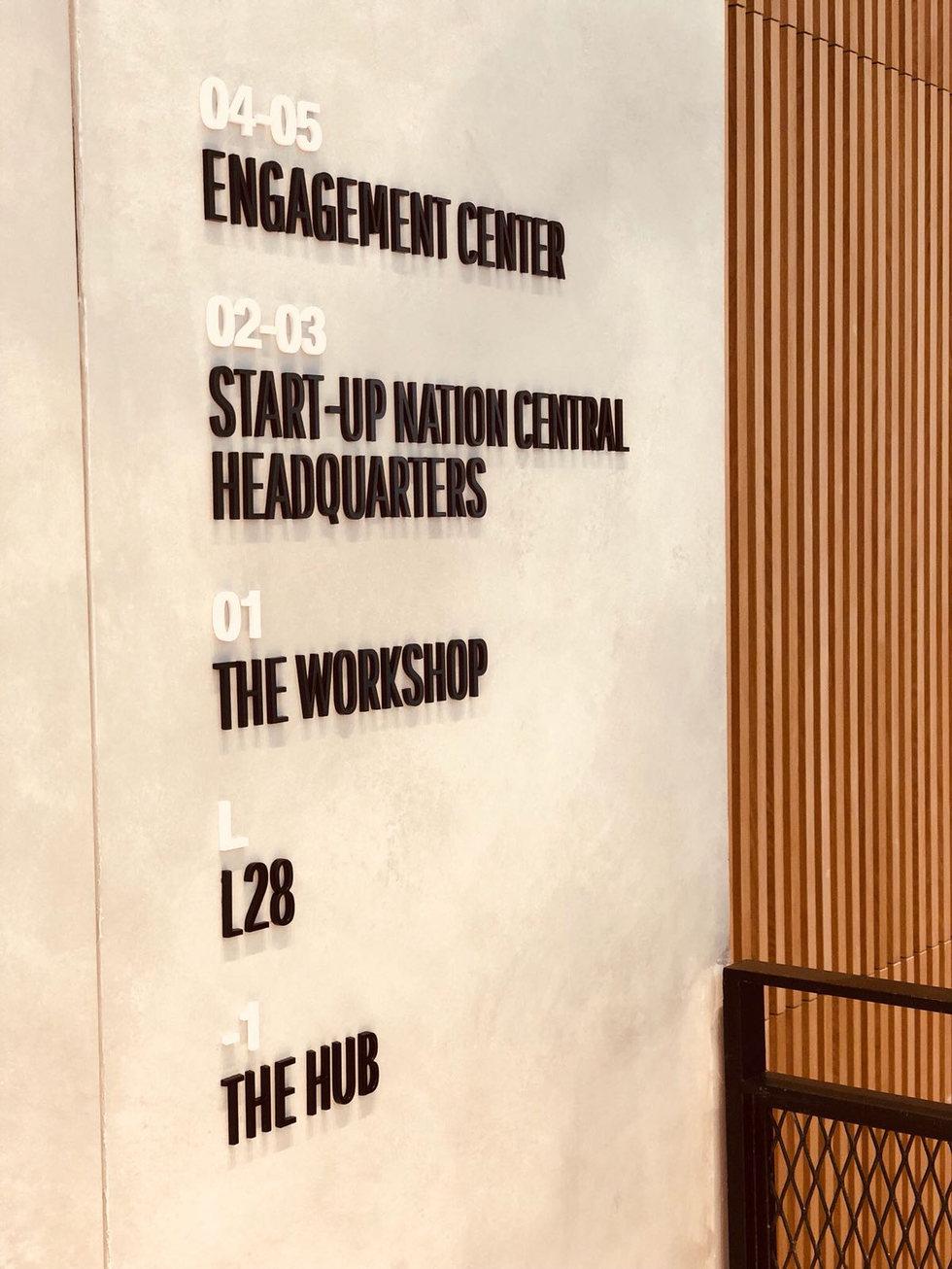 Startup Nation Floor wayfinding