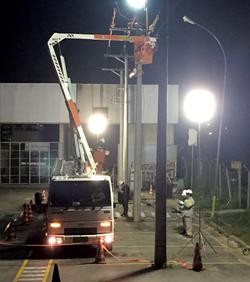 Iluminação Troca de postes EDP Bande