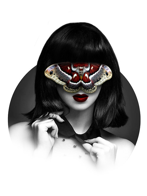 Girl with Moth Art Print