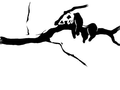 Napping Panda Art Print