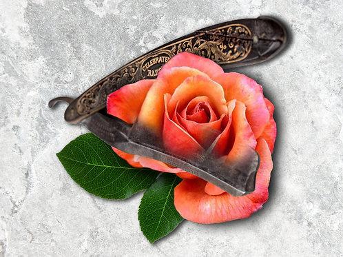 Straight Razor Rose Art Print