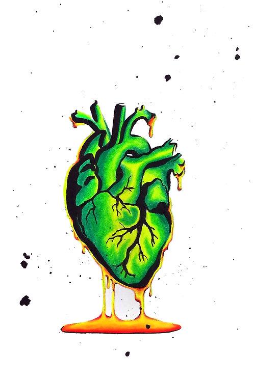 Nuclear Heart Art Print