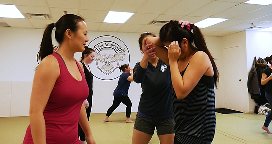 defending punches in self defense workshop for women
