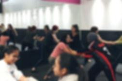 women practicing wrist escape in self defense class Toronto