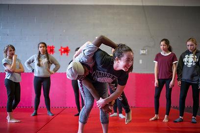 judo throw in martial arts class