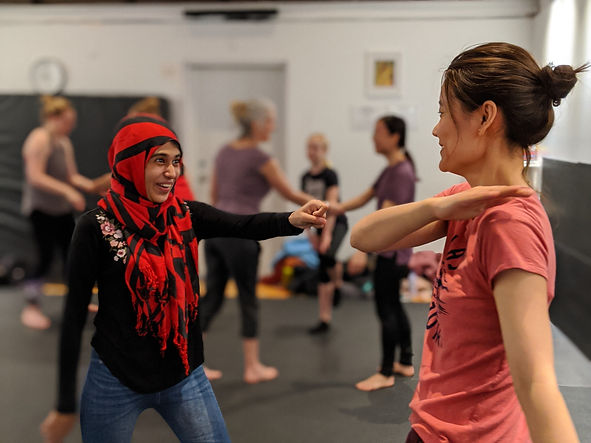 women practicing self defense at girls who fight