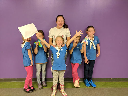 self defense workshop for the girl guides group in toronto